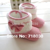 Wholesale Baby Girl Winter Walker Shoes - Autumn winter 2014 Hot baby shoes kids Warm boots baby soft bottom prewalker first walkers baby girl Cotton-padded shoes