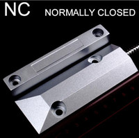 alarmas de puerta de contacto magnético al por mayor-Interruptor de contacto magnético de la puerta del obturador del metal con alambre Alarma de la puerta OC-55 para el sistema de alarma casero