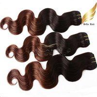 satılık ombre hair extensions toptan satış-Ombre Saç Brezilyalı Saç Uzantıları Vücut Dalga Dalgalı İnsan Saç Atkı Sıcak Satış Ürünleri 14 '' ~ 30 '' 3 adet / grup Saç Örgüleri DHL Ücretsiz Kargo