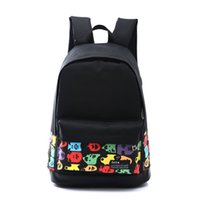 Wholesale Cartoon Boy Girl Hard - 2016 new Boy Girl Unisex flowers leisure Canvas Rucksack Backpack School Book Shoulder Travel Bags Wholesale