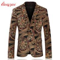 Wholesale Plus Size Velvet Blazer - Wholesale-Men Blazer Suit High Quality Velvet Brand Casual Business Wedding Blazer Suit Autumn Winter Plus Size Fashion Suit Jacket F2223