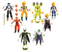 Wholesale Toy Action Figure Dolls - New 8Pcs lot 17cm PVC Dragon Ball Z Joint Movable Vegeta Piccolo Son Gohan Goku Trunks freeza doll Action Figure chidren Toy