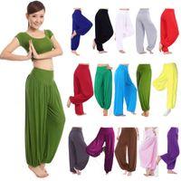 Wholesale women yoga pants white online - Yoga Pants Large WOMENS HAREM TROUSERS LONG PANTS BAGGY LEGGINGS CASUAL PLUS SIZE