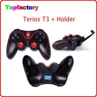 controlador sem fio New Terios T3 com o suporte portátil caixa de TV sem fios Bluetooth Game Controller Gamepad para Smart Android Phone Tablet PC