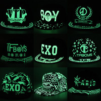 Wholesale Dope Wholesale - 2016 Wholesale Fashion Glow In The Dark Caps Luminous Hip Hop Toronto Baseball Cap Dope Snapback Hat 40 Color Free Shipping