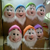 Wholesale Mascot Costumes Dwarf - Seven Dwarf mascot costume Snow White Mens Costume Accessories From Snow white and the Seven Dwarfs Adult Party Fancy Dress Custom Your colo