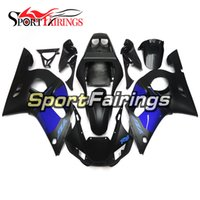 Blue Black Matte Fairings pour Yamaha YZF600 R6 YZF-R6 98 - 02 1998 1999 2000 2001 2002 Injection ABS Plastic Motorcycle Fairing Kit Carrosserie