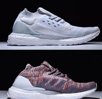 Wholesale Recycled Cotton - Recycled Sneakers Ultra Boost Uncaged Arrived,UltraBoost Parley & Kith Aspen Running Shoes for Men & Women White Grey Multicolor With Box