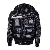 roter gepolsterter mantel großhandel-Klassische Luxus-Mode-Marke Winter Daunenjacke Herren Warm Coat Rabatt Jacken für Männer Gepolsterte Mann Mäntel Rot Hohe Qualität Verkauf