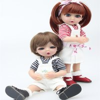 Wholesale Small Full Silicone Doll - Couple 25cm simulation doll full silicone reborn doll upscale small boys and girls Toys Gifts dolls wholesale