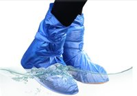 Wholesale Waterproof Shoes Covers - Wholesale-PVC Environmental Protection Waterproof Shoe Covers for Foot Plastic Rain Shoe Cover Wear Directly Washed Reusable Shoe Covers