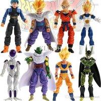 Wholesale Dragonball Vegeta - Lot 8pcs  set, dragon ball z action figures Dragonball Z Goku DBZ Anime Vegeta Kid Toy