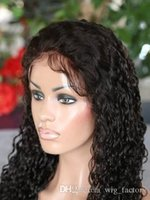 Wholesale Indian Curly Hair For Sell - Human Hair Wigs 100% Remy Virgin Indian Human Hair #1B Kinky Curly Lace Front Wig For Selling In Stock Fast Delivery FREE SHIPPING