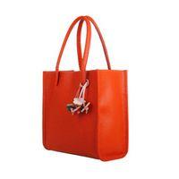 Wholesale Candy Red Flowers - Mance famous brand Fashion Elegant girls handbags women bag leather shoulder bag candy color flowers Women tote Handbag