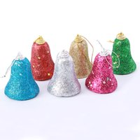 Wholesale Blue Party Powder - Christmas Bell Colorful Powder Finished Small Bell Formed Plastic Tinkle Bell For Christmas Decoration Wedding Party Product Code :95-1000