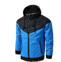 Wholesale Stylish Sports Jackets - 2018 Stylish Fashion High Quality Sport Jacket Coats, Men Causal Hooded Outdoor Jacket,Men Thin Windbreaker Zipper Coats Outwear