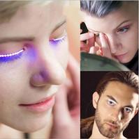Wholesale Wholesale Eyelash Products - Newest Product Led eye lashes flashing eyelashes sound interactive shiny for Club Halloween Party