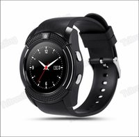 Wholesale Micro Kid - V8 Smart Watch Bluetooth Watches Android with 0.3M Camera MTK6261D Smartwatch for android phone Micro Sim TF card with Retail Package MQ50