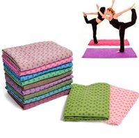 Wholesale Microfiber Sweat Towel - Wholesale-Non Slip Yoga Mat Cover Towel Blanket Sport Fitness Exercise Pilates Microfiber Fast Dry and Nice Sweat Absorb Free Shipping