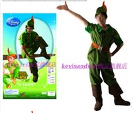 Wholesale Tinker Bell Clothes - Free shipping Peter Pan and Tinker Bell Vestido Cosplay clothing costume for adults men