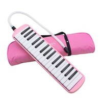 Atacado-Alta qualidade 32 Key Melodica Pink Color Keyboard com Deluxe Carrying Case
