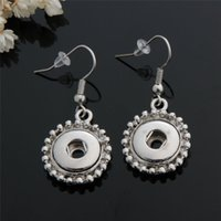 Wholesale 12pairs Fashion women noosa chunks metal ginger mm snap button dangle earrings jewelry for girls