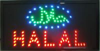 exhibición llevada de la cartelera al por mayor-2016 Venta Directa 10x19 Pulgadas Ultra Brillante intermitente led halal tienda de alimentos signo abierto led carteleras pantalla led