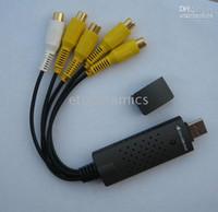 Wholesale Easycap Usb Dvr - 4 Channel USB 2.0 DVR Video Audio CCTV Capture Adapter EasyCap for PC Laptop