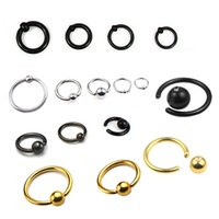 Envío gratis 316l acero inoxidable Eazy Out anillo cautivo aros Cbr / Bcr Body Piercing Jewelry