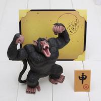 Wholesale monkey puppets resale online - 13cm Anime Dragon Ball Z Action Figure Saiyan Son Goku Monkey Orangutans Toys Dolls Mod Juguetes Puppets Figure Toys For Children