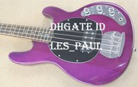 Musica Man 4 Strings Bass Erime Ball StingRay Chitarra Elettrica Finale Purple Chrome Hardware String Thru Body Rosewood Fingerboard