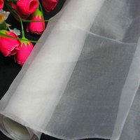 Wholesale Dressmaking Silk - 100% pure silk organza fabric off white dressmaking sewing material cloth for dress for bridal dresses by the meter (1 yard 3 inch)