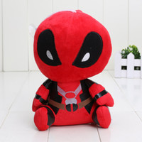 Wholesale Dolls Heroes - 18cm Movies Super Heroes Deadpool Plush Toys soft doll PP cotton Deadpool Stuffed Animals pendant keychain Baby Toys