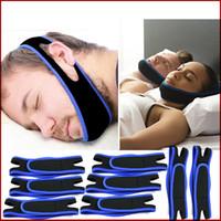 anti-horlama burun şeritleri toptan satış-Anti Horlama Çene Kayışı Neopren Durdur Horlama Çene Destek Kemer Anti-Apne Çene Çözüm Uyku Cihazı Sağlık Horlama Bırakma