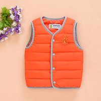 Wholesale Baby Vest For Girl - Wholesale-Boys Winter Jacket 2016 Fashion Autumn Baby Vest Manteau Fille Hiver Down Jacket For Girl And Boy Casaco Infantil Menino