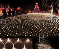 xmas light net venda por atacado-2x3 m 4x6 m guirlandas de natal led corda de natal net luzes de pesca fada xmas festa de casamento decoração de casamento luzes de cortina