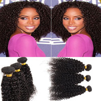 """Wholesale Hair Extensions Top Rated - 7A Brazilian Kinky Curly Top-rated Human Hair Weaves 3PCS 8""""-30"""" 100% Unprocessed Hair Kinky Curly Hair Extensions"""