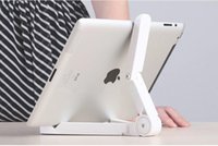 Wholesale Apple Notebooks Laptops - Universal Adjustable 7-10 Inch Tablet Holder Foldable Desk Stand For Apple iPad Mini 4 3 2 1 Samsung Tab Laptop Notebook