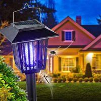 ingrosso bug di giardinaggio-Zapper Solar Solar Powered Outdoor Bug Zapper Solar Killer Lamps - Hang o Stick in terra - Dual Bug Bug Zapper Garden Light Lawn Lamp