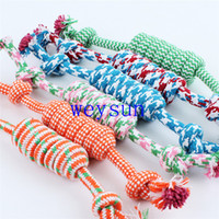 Wholesale Dog Plush Cotton Rope - New Pet cotton rope dog plush teeth toys pet molar and clean teeth toy