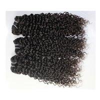 hint brezilya saç nakliye toptan satış-Brezilyalı Saç Perulu Hint Malezya Jerry kıvırcık Saç Örgüleri 3 bundle lot 100% işlenmemiş ucuz perulu saç Dokuma 9A Ücretsiz Kargo!
