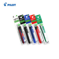 azul rojo negro verde pluma al por mayor-Al por mayor-Pilot FriXion Ball Gel Multi Pen Repill - 0.5 mm 6 refills / lot (2 Paquetes) Negro / Rojo / Azul / Verde LFBTRF-30EF