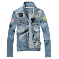 Wholesale high quality plus clothing online - Autumn Men s Denim Jacket high quality fashion Jeans Jackets Slim fit casual streetwear Vintage Mens jean clothing Plus Size M XL