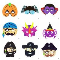 Wholesale Halloween Pirate Masks - Halloween Party Ghost Masks Halloween EVA Mask Ghost Festival Pumpkin Pirate Ghost Skull Head Party Supplies Halloween Props CCA7020 500pcs