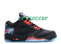 "Wholesale Chinese Tassels - newest arrivals retro 5 Low cny ""chinese new year"" Basketball Shoes 5 retro V Athletics shoe Sports sneakers Colorway:black brght crmsn-hypr"