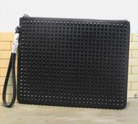 Wholesale Leather Man Clutch Bags - Women Men Bags 2016 Bag Handbag Brand France C*L Fashion Famous Europe & America Style for IPAD Handbag Genuine Leather Clutch Bag for Men