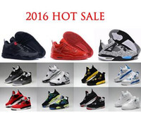 Wholesale China Sales Online Free Shipping - 2017 top Quality Air retro 4 mens basketball shoes Arrived china Authentic Cement Fire Red Fear Free shipping online for sale size 8-13