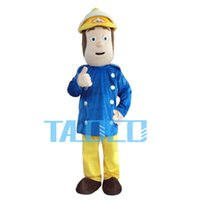 Wholesale Mascot Costume Fireman - HOT sam Costume Cartoon Character Cute Fancy Dress MascotNew Professional Fireman Sam Mascot Costumes Fancy Dress Halloween Party