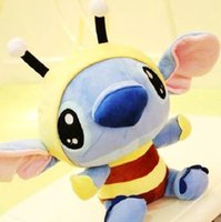 Wholesale Stitch Dolls For Sales - Hot sale 20cm New arrival Lovely Cartoon Lilo & Stitch Plush Toy Stitch Soft Stuffed Doll for kids gift high qulity free shipping retail
