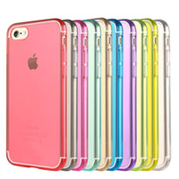 Wholesale Apple Mixed Colours - For Samsung S6 S7 Edge Note 5 iPhone 7 6S Plus Case Slim Crystal Clear Soft TPU Silicone Protective Sleeve Mix Colours Cases